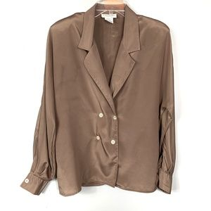 Christian Dior Vintage Dark Tan Shirt Size 12